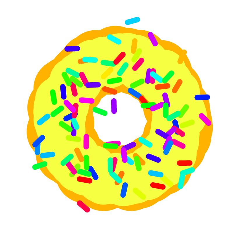 A yellow donut.
